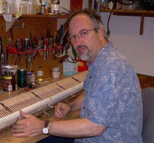 Greg at work in the HSU Instrument Shop