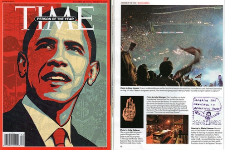 Marty Coleman's Napkin Art in Time Magazine
