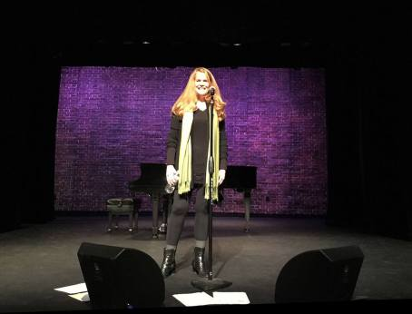 Julia rehearsing at the Sheen Center -- for Live Nation!
